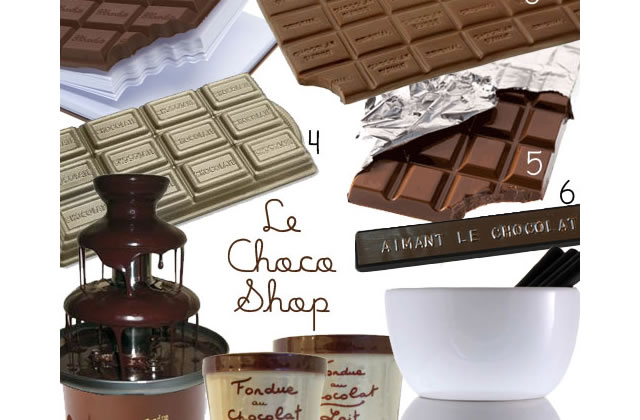 Le ChocoShop – Sélection d'ustensiles de cuisine.