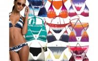 Bikini hippie : tie and dye on the beach