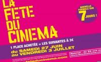 Fête du cinéma, du 27 juin au 3 juillet