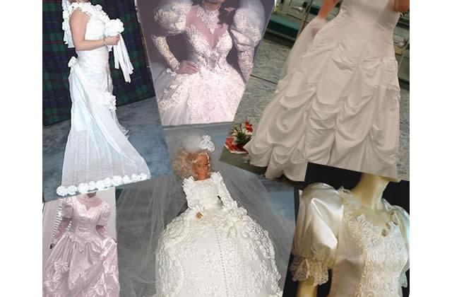 Les pires robes de mariée