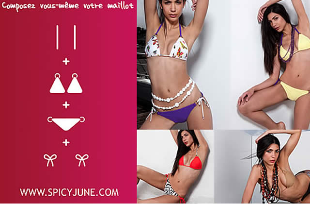 Spicyjune: des bikinis à la carte