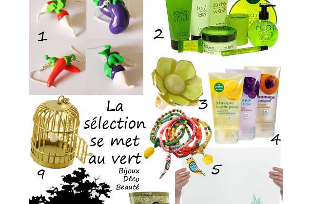 La sélection verte – Bijoux, déco & beauté