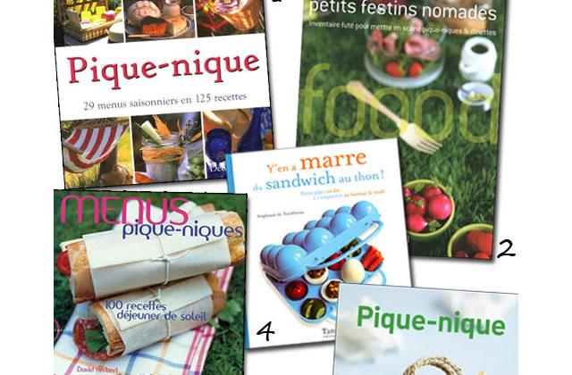 Sélection de livres de cuisine spécial pique-nique