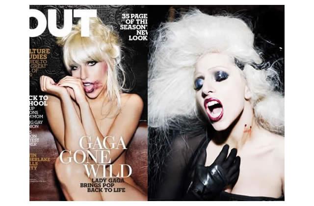 Lady GaGa est un vampire dans OUT le mag