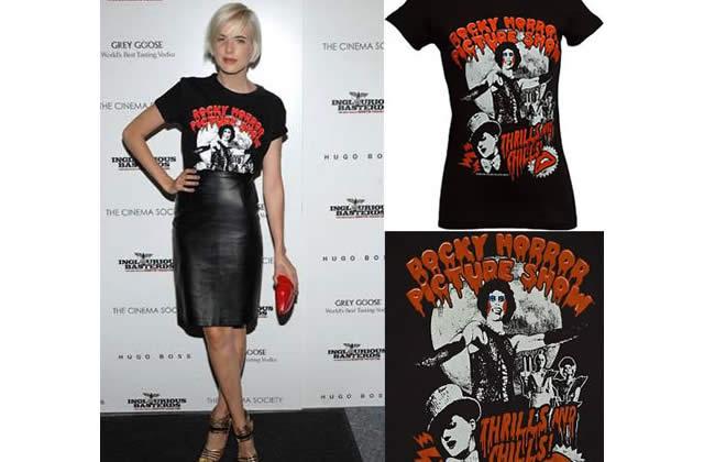Le tshirt Rocky Horror Picture Show d'Agyness Deyn