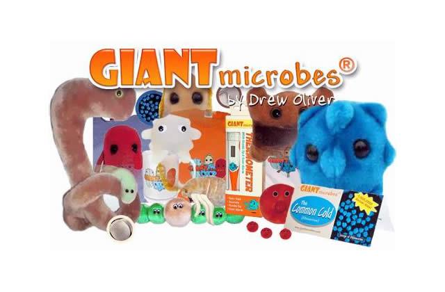GIANTmicrobes : les peluches microbes à câliner