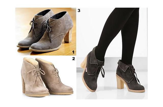 Desert boots : derbies tendance hiver 2009-10