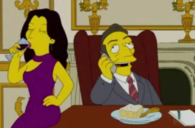 Le couple Sarkozy dans les Simpson