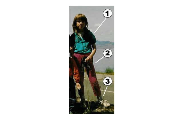 Polo  + survêt + chaussettes : une aventurière de 1993