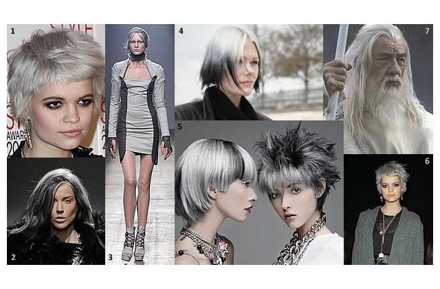 Cheveux gris : le nouveau noir ou la tendance mamie