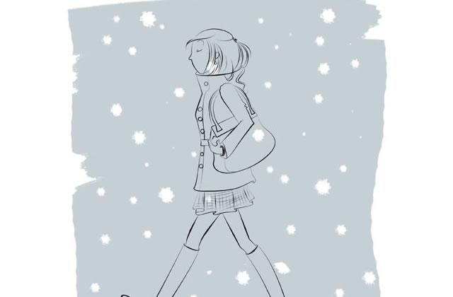 Le dessin de Julie – L'hiver a du bon