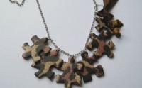 Tuto Bijou : des bijoux en puzzle recyclé (et léopard)