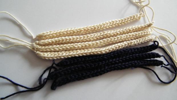 tuto bijou un collier chaine en tricotin. Black Bedroom Furniture Sets. Home Design Ideas
