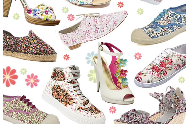 Chaussures fleurs en liberty : ça bourgeonne !