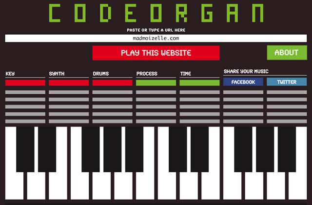 CodeOrgan : transcris tes sites favoris en musique