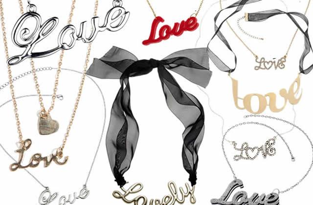 Colliers et mots d'amour