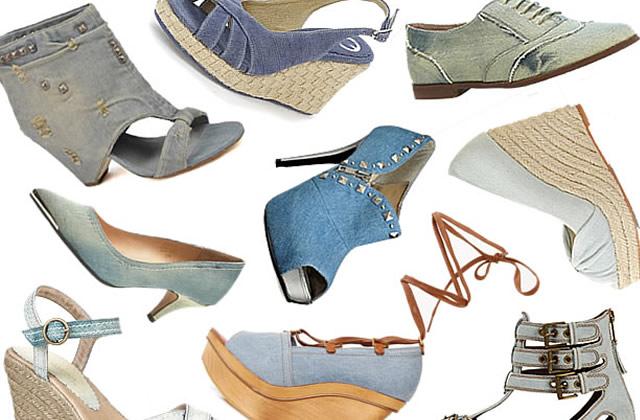 Des chaussures en jean