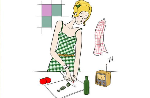 Un homme en cuisine le dessin de clio for Dessin cuisine