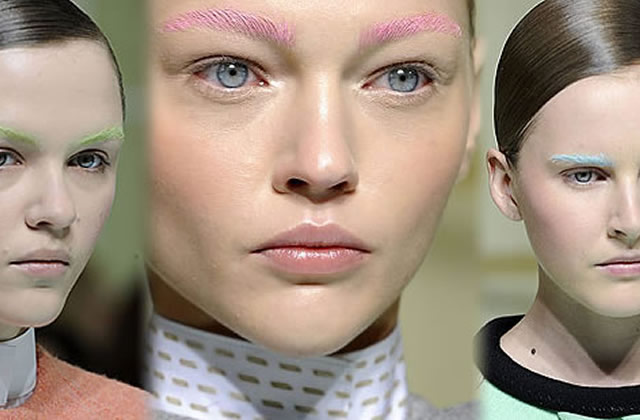 Les sourcils colorés de Balenciaga