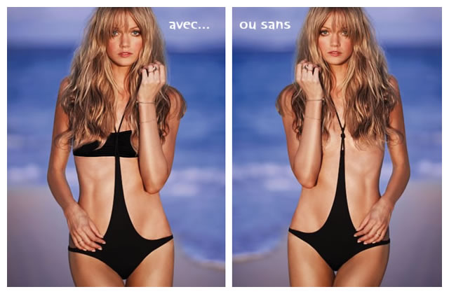 Half-kini, le maillot topless de Victoria's Secret