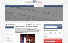 Le CV de Nicolas Sarkozy sur Elysee.fr : l'url qui tue