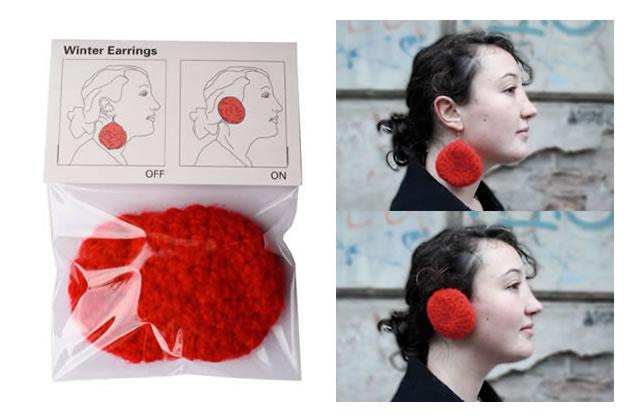 Lise Fainsilber tricote des boucles (cache) d'oreilles