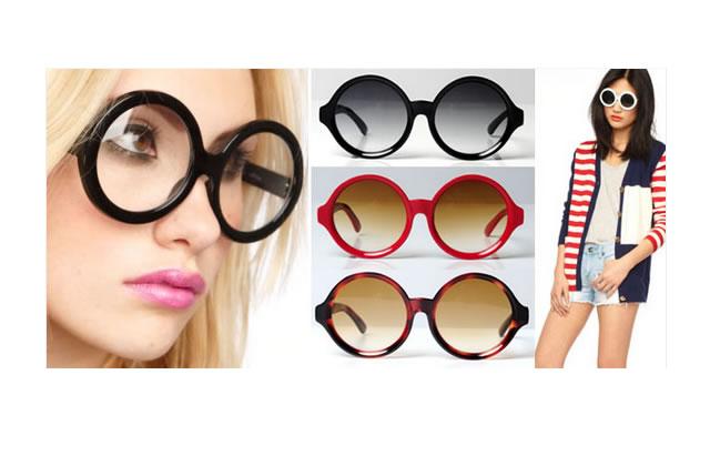 Des lunettes rondes