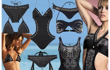 Studs on the beach: des maillots cloutés
