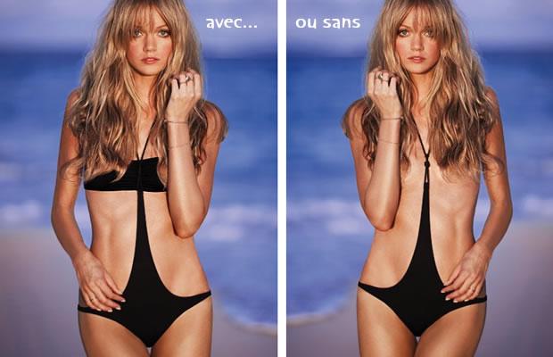 Half kini, le maillot topless de Victorias Secret mono trikini
