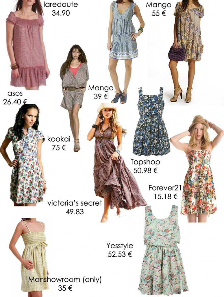 shopping robes fleurs 775x1024 Cinq raisons daimer le retour des beaux jours