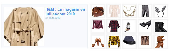 diapo ja hm Preview des tendances automne 2010 chez H&M