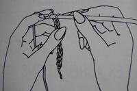 Tuto crochet : un noeud pour cheveux maille 01