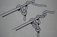 Tuto crochet : un noeud pour cheveux maille 1 gauche