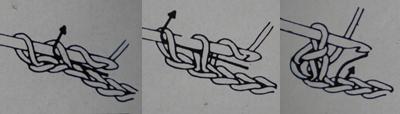 Tuto crochet : un noeud pour cheveux maille 3 gaucher