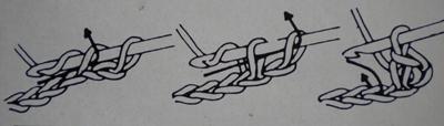 Tuto crochet : un noeud pour cheveux maille 3