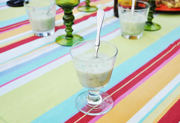 recette veloute concombre menthe