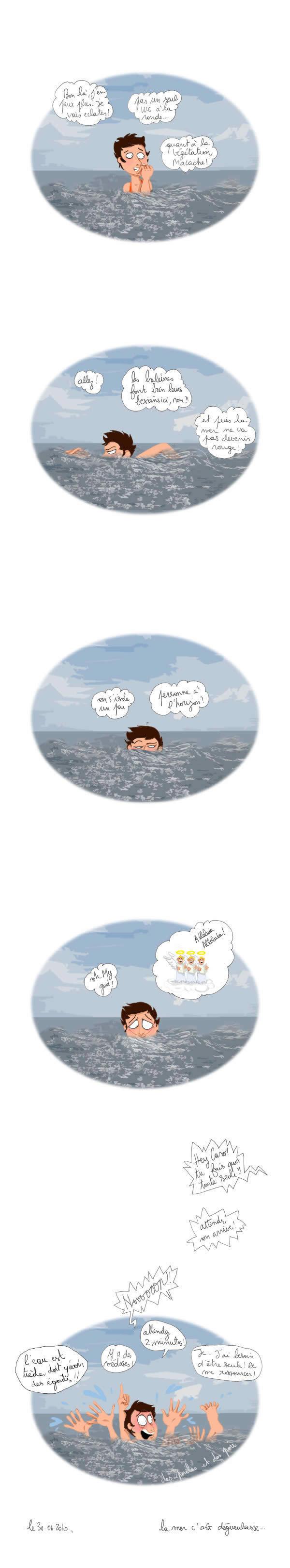 caromer La mer cest dégueulasse   Le dessin de Caroline
