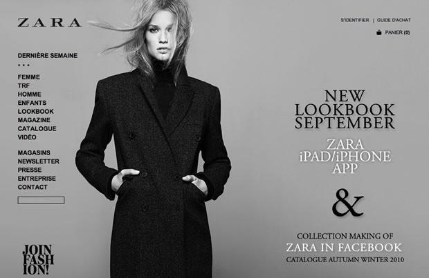 zarafr Zara : sa e boutique est en ligne !