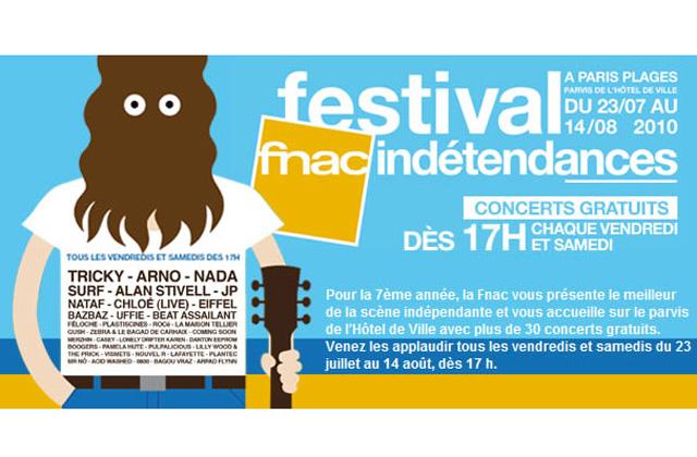 Le Festival FNACindétendances : concerts gratuits à Paris Plages