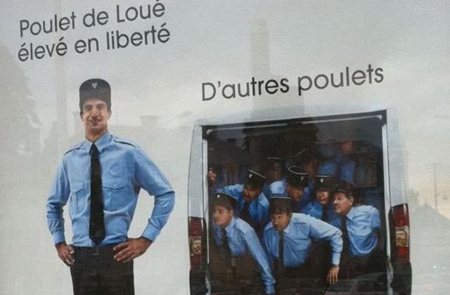 Poulets de Loué ou pas, on ne rigole pas avec la police ?