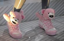 Les sneakers Teddy Bear de Jeremy Scott