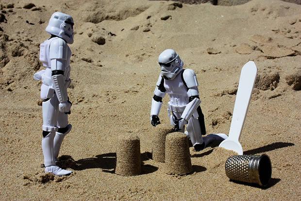 Stormtrooper paté sable plage