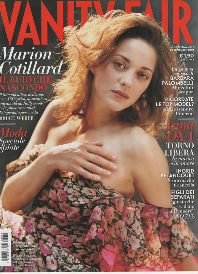 Marion Cotillard Vanity Fair italien