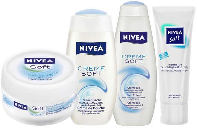 crèmes nivea soft sans parabens