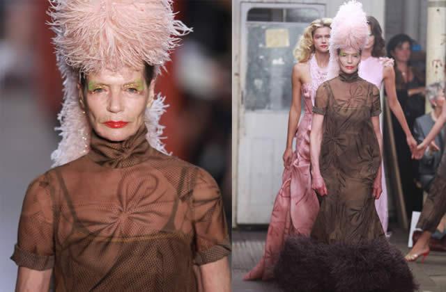 Fashion Week Londres Giles Deacon Veruschka