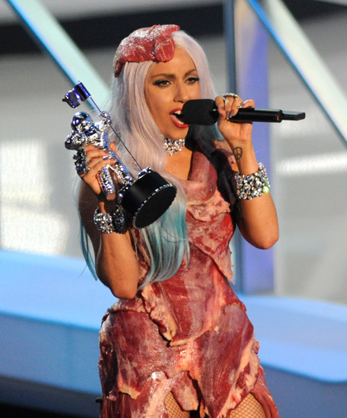 lady gaga viande MTV video music awards