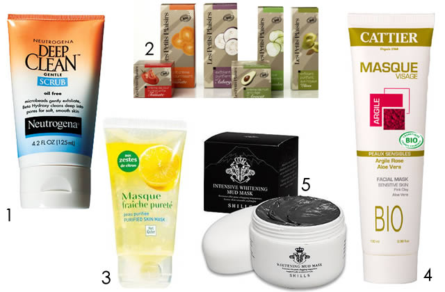 masques visages purifiants