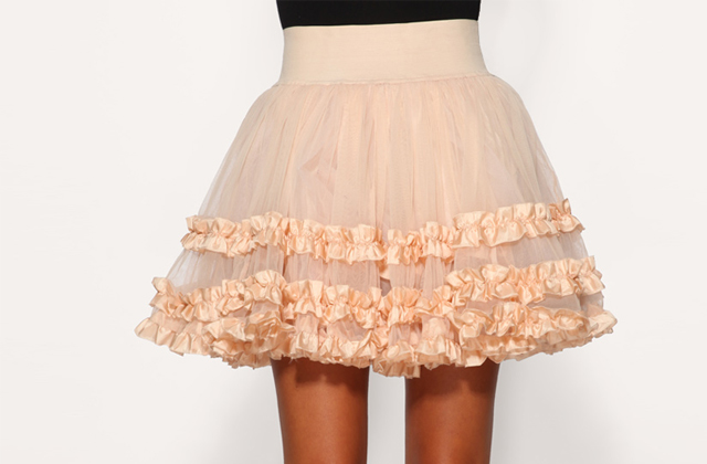 Tutu tendance patineuse urban outfitters
