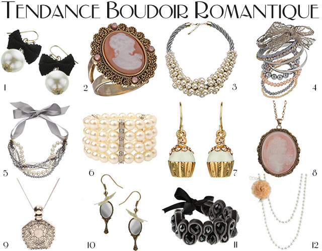 tendances bijoux 2010 2011 boudoir romantique