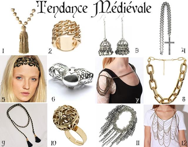 tendances bijoux 2010 2011 médiéval